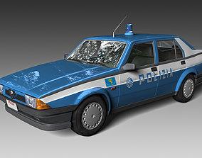 3D model Alfa Romeo 75 police 80