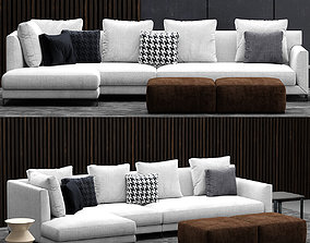 3D minotti allen sofa
