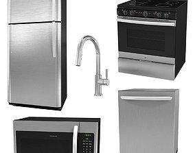 Kitchen appliances set 3D model