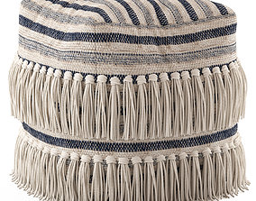 Network Rugs Bone Fringed Wool Ottoman 3D model