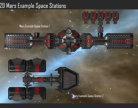 3D model 2D Mars Space Station