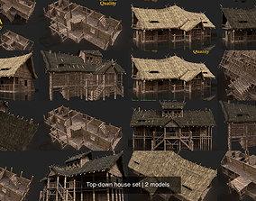 Top-down house set 3D