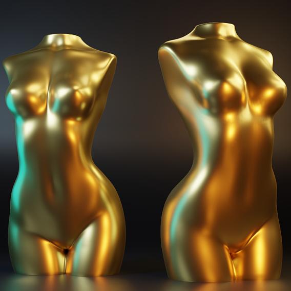 Female Torso deco 2 Gold Edition