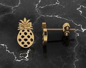 Jewelry Earring Pineapple Shape 3D print model