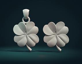 3D print model badges Clover Pendant