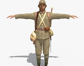 WWII Japanese Soldier 01 3D