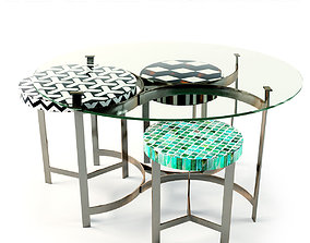 KARE Coffee Table Musivo Round 3D