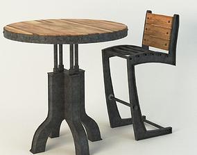 3D model Vintage Industrial Chair