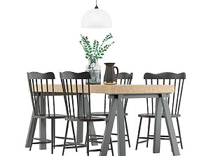 3D Dining Furnitures Set 35