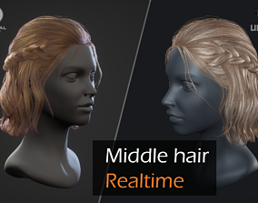 3D model Romantic hairstyle