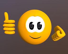 Emoji smile 3D model