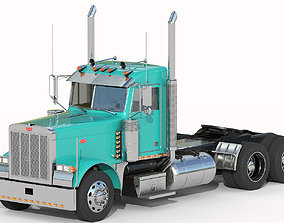 Peterbilt 379 with interior hquality 3D model
