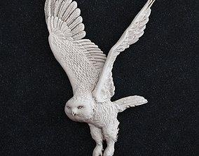 Polar owl bird 3D print model