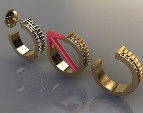 Diamond Infinity Hoop Fashion Earring 3D printable model