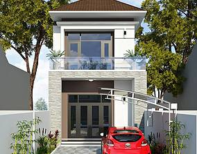 interior modern animated House design 3d model