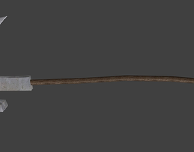 Low Poly Scythe Weapon 3D model
