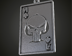 Fan art Punisher playing card pendant 3D print model