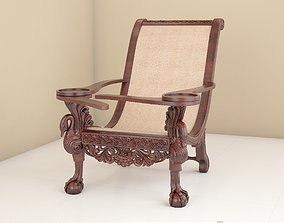 3D furniture easy chair