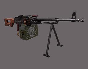 PKM Machine Gun 3D asset VR / AR ready