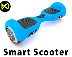 3D model Wheel Smart Electronic Scooter