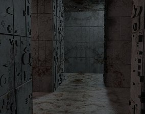 3D asset game-ready Sci-FI Labyrinth