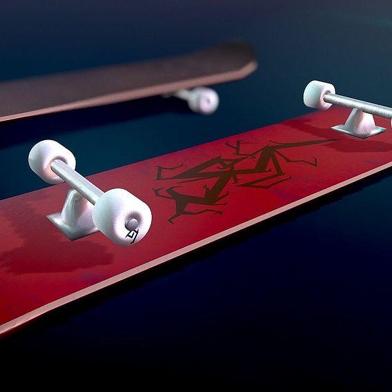 Lowpoly Skateboard Final