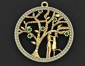 tree of life and valentine necklace 3D print model