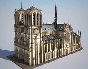 Notre-Dame de Paris Cathedral 3D notre-dame
