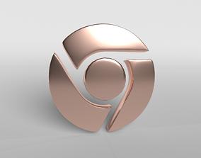 Chrome Logo 004 3D asset