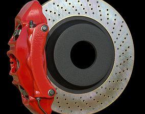 Brake assembly for racing car 3D model