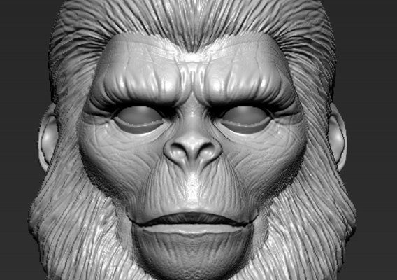 Planet of the apes 1/6 scale head sculpt commission