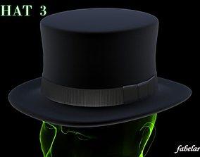 3D Bowler hat