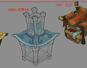 Dynasty City-empty booth 3D model