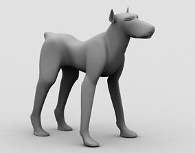 3D A dog