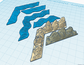 Runewars epic game Rock and Rivers set 3D print model