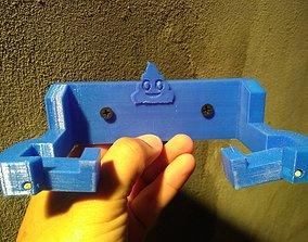 3D printable model toilet paper holder plastic