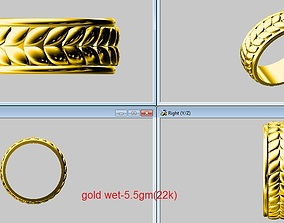 band ring marquise shape cut 3D print model
