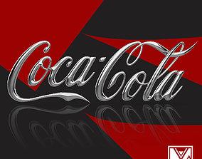LOGO 3D COCA-COLA COCA-COLA LOGO TYPE LETTERS PREMIUM