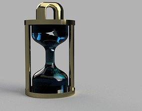 3D printable model the Broken hourglass keychain