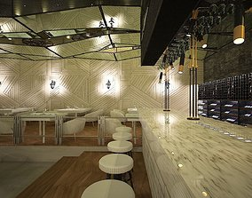Restaurant Bar Counter 3D asset