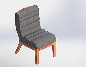 3D asset modern lounge chair