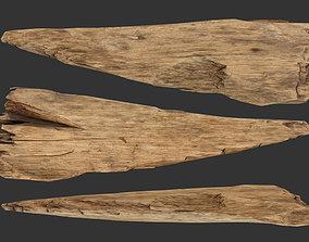 3D model low-poly Broken Plank