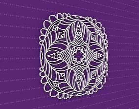 design pattern Mandala 3D model