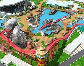 theme Amusement Park 3D model