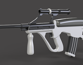AUG Assault Rifle Low - poly 3D model game-ready