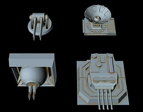 Turbolaser canons for big imperial ships 3D model