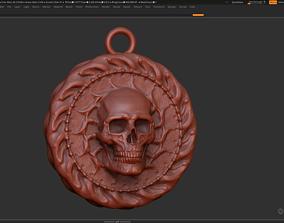 sculpture Skull Pendant 3d print model