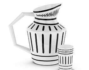 3D model Isi jug and cup