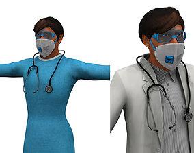 indian man2 doctor 3d model