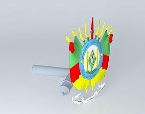 Coat of Rio Grande do Sul Symbol 3D model